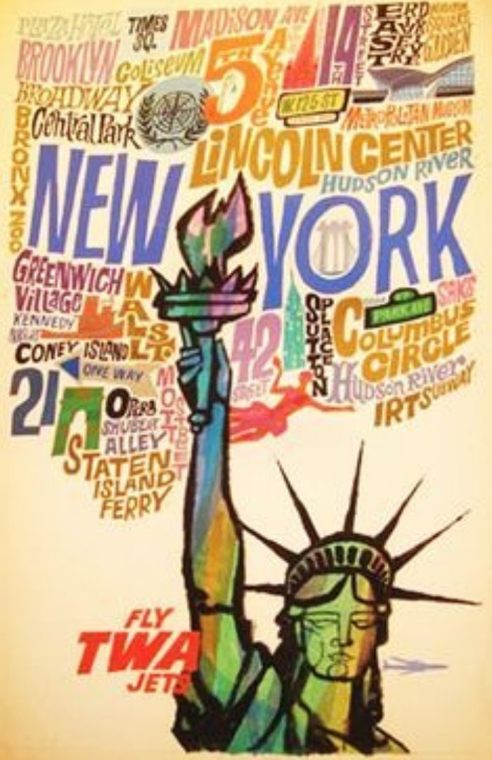 40x Vintage Travel Posters New York You Want On Your Wall || The Travel Tester