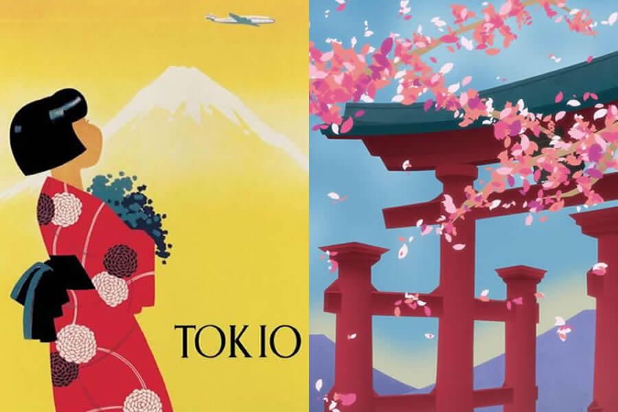Dit zijn de Mooiste Vintage Reisposters Japan
