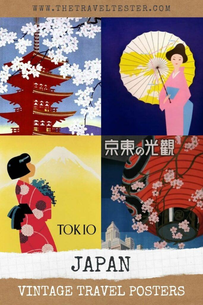 32x Vintage Travel Posters Japan That You Want To Put On Your Wall || The Travel Tester