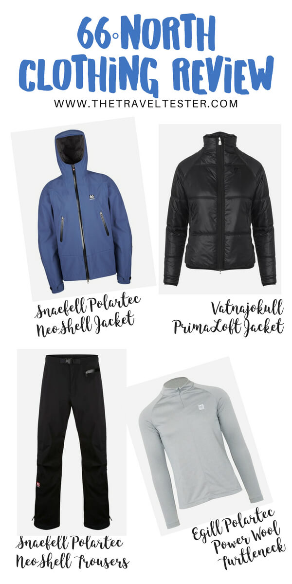 66 Degrees North Clothing Review: Neoshell Jacket, Primaloft Jacket, Polartec Pants and Power Wool Base Layer - Best Outdoor Clothing in Iceland!    The Travel Tester