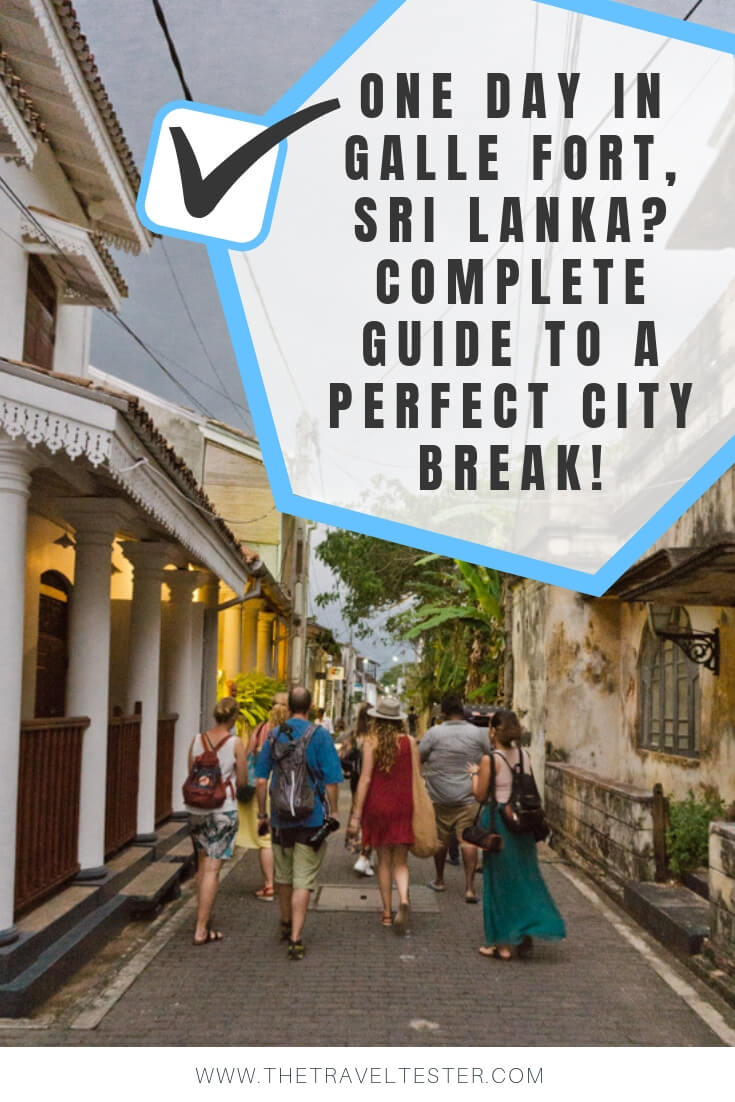 One Day in Galle Fort, Sri Lanka? Complete Guide To A Perfect City Break!    The Travel Tester    #SriLanka #Travel #Asia #Galle #Fort #GalleFort #History #Archaeology