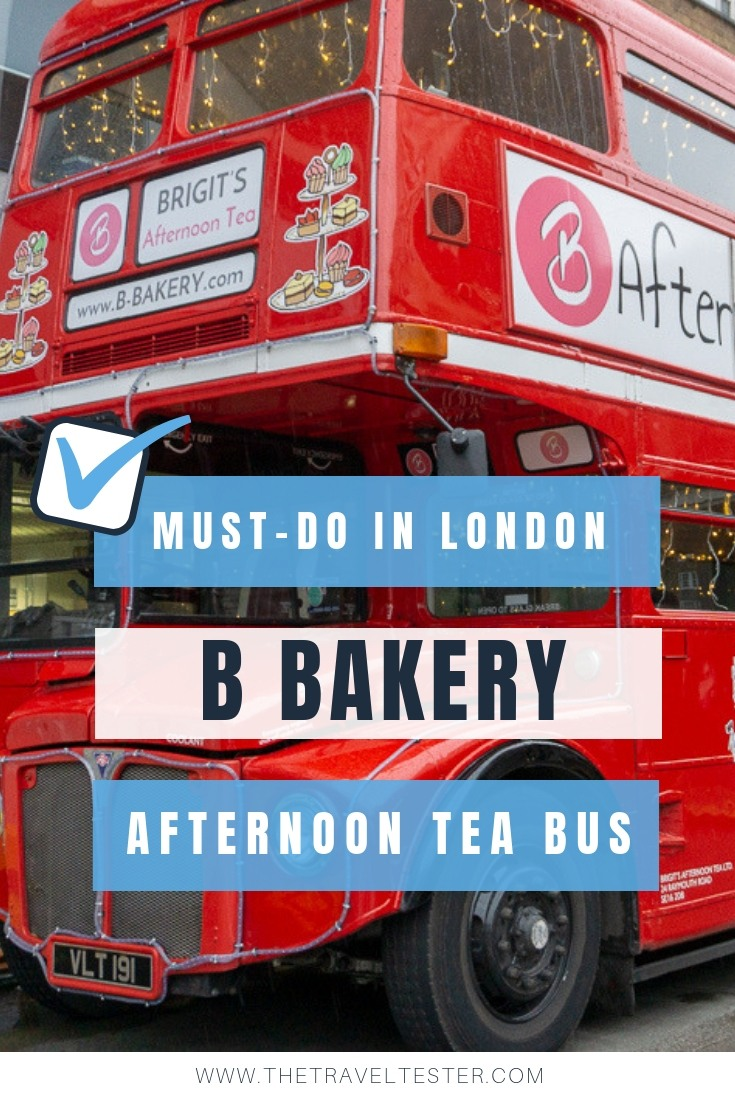 Afternoon Tea on a London Bus You Need to Know About: B Bakery Bus Tour || The Travel Tester