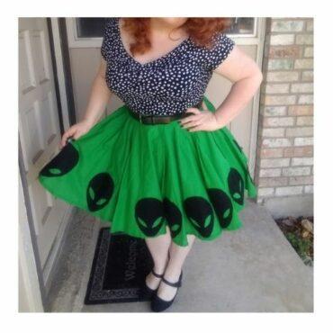 Area 51 Circle Skirt