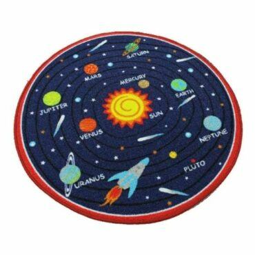 Round Rug Solar System Rug