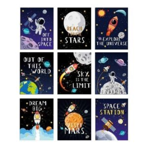 Inspirational Outer Space Wall Art Set of 9