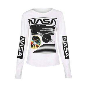 Long Sleeve NASA Print Shirt