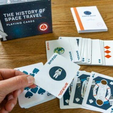History of Space Travel Playing Cards