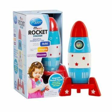 Wooden Stacker Toy Space Rocket
