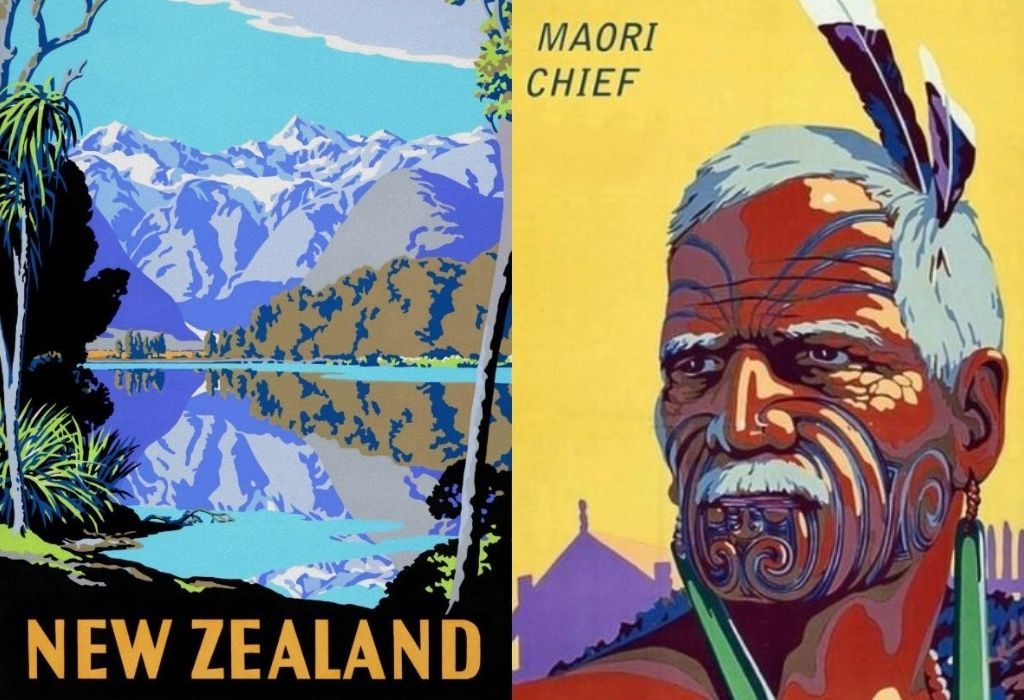42x Vintage Travel Posters New Zealand You'll Love