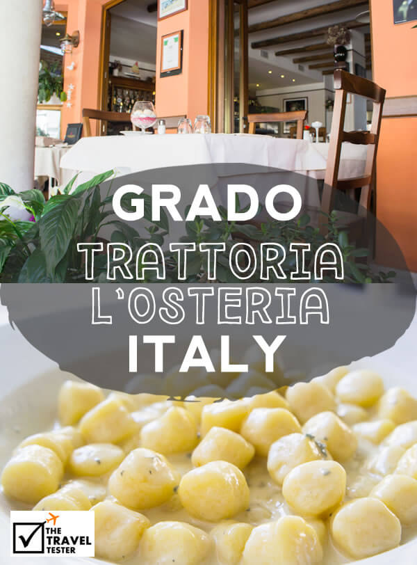 Lovely Pasta Lunch at Trattoria l'Osteria in Grado, Italy || Recommended by The Travel Tester